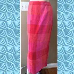 Talbots Skirt in Pinks and Reds EUC